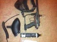 Brand new Spyder paint ball gun. comes with mask, air