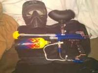Spyder paintball gun for sale only been used once and