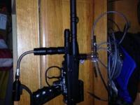 Black Spyder Xtra semi-automatic paintball gun in good