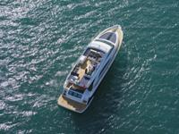 This Fairline Squadron 65 is built to impress. A real