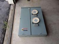 Never used. Stored since 2006. Main 400 amps max. Two