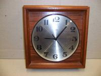 This is a nice, plain wall clock from the West German