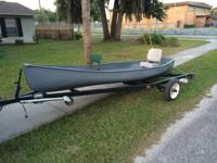 Square back canoe, trailer, and trolling motor plan.