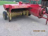 VERY good New Holland 273 square baler.Has baled nearly