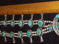 Old squash blossom necklace purchased in Albuquerque
