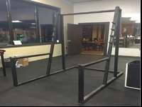 Steel Squat RackUsed but in good condition, doesn't