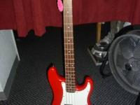 SALE A SQUIER BULLET BASS GUITAR . IT IN GREAT WORKING