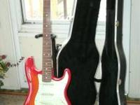 "2008 FENDER Squier ""STANDARD"" Strat with HARD CASE"