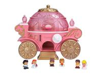 The Disney Princess Squinkies travel in magical style