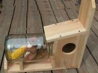 Squirrel Feeder Put a cob of corn in & watch the