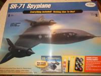 "Testors SR-71 Blackbird Spyplane, 1/48 scale, 26 7/8"""
