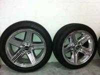 This is a great set of 18x8 rear wheels and 17x7 front