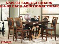 ST JOHN 5 PC DINING COLLECTION ONLY $749.99 +TAX