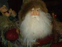 St. Nick stands 42 inches tall, He is an Indoor Xmas
