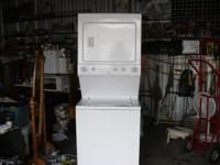 this is a white kenmore stackable washer and dryer. top