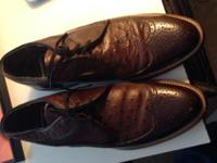 Very nice Stacy Adam brown shoes size 8 and half . $