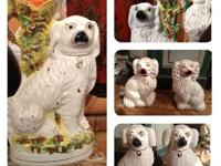 Shown: Pair Staffordshire Dogs Spill Vases $1400/pair