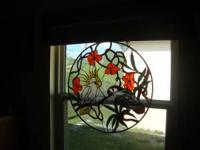Beautiful Stained Glass Custom Made by me. 34 inch in
