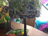 Beautiful Stained Glass Bluebonnet lamp! An exciting