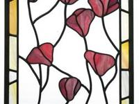 Up for sale is a Leaded Stained Glass Fleur-de-Lis