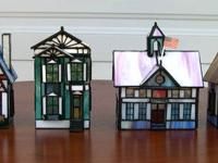 A cute collection of real stained glass houses that all