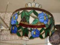 Stained Glass Lamp, Tiffany style reproduction.