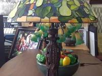 Beautiful Stained Glass Pear Lamp in great condition!