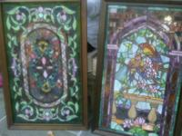Stained Glass Windows - $85. Each; Parrot in tree or