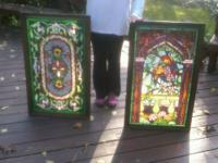 Stained Glass Windows - $85. Each measures 23? Wide x