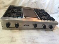 Viking cooktop, Viking downdraft, Viking double oven,