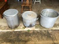 3 pots.....100 qt-$125, 2- 80 qts-$100