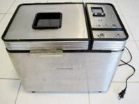 Cuisinart Brand Stainless Steel  Bread Maker. Only used