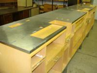 Set of six stainless steel counter tops $150 each Great