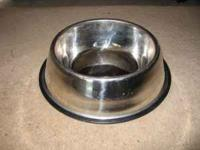 used stainless steel dog or cat dish. Very good