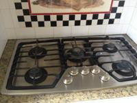 Stainless steel gas cooktop 200 or best offer by noon