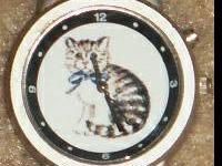 Stainless Steel Meowing Kitty Cat Watch - $28.00