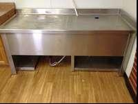 "Have a stainless steel table 30"" wide 6' long and 32"""