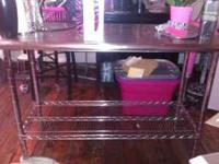 STAINLESS STEEL PREP TABLE EXCELLENT CONDITION 4FT BY