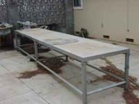 "100% Stainless Steel Table 3' X 15' X 30"" $1200.00 obo"
