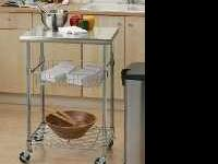 New mobile or stationary kitchen island utility cart