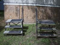 Each set of stairs is sturdy and ready to use. $20 firm