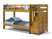 STAIRWAY BUNK BED * Made of solids with a veneer *