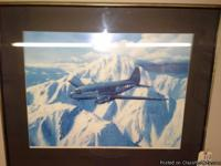 """C-46 Flying The Hump China Burma India"" signed print"