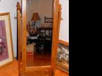 For Sale Stand up wooden Mirror with hidden jewelry box