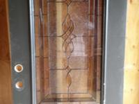 THIS FIBERGLASS FRONT DOOR IS A BEAUTIFUL 3/4 LIGHT