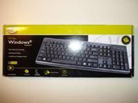 Gear Head 107 Key Windows Standard PS/2 Wired Keyboard,