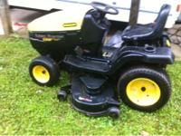 "22hp twin cylinder, hydo automatic, 52"" cut lawn"
