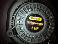 Stanley Portable Gas Generator surge power 2250 Never