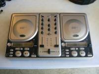 Stanton tabletop dual cd player with mixer. In good