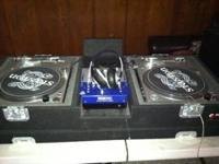 I am selling my mixer and stanton turntables original,